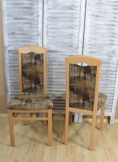 2er-Set Esszimmerstuhl massivholz Buche mocca Stuhlset Stühle modern design