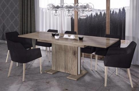 design Säulentisch San Remo Trüffel ausziehbar Esstisch modern günstig hochwerig