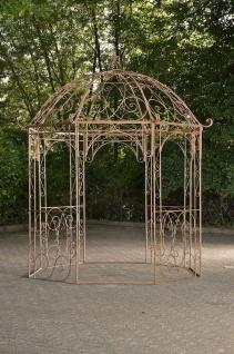 Pavillon Eisen antik braun Rankhilfe stabil Pergola Rosenbogen Rankgitter Garten