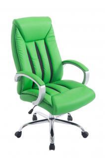 XXL Bürostuhl bis 150 kg belastbar grün feinstes Kunstleder edler Chefsessel