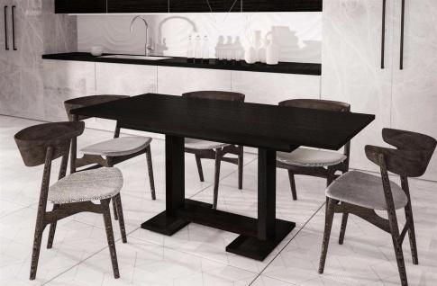 design Esstisch Wenge 130-210 ausziehbar edler Auszugtisch Küche modern günstig