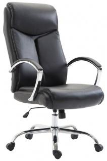 XL Chefsessel 140 kg belastbar Kunstleder schwarz Bürostuhl hochwertig stabil