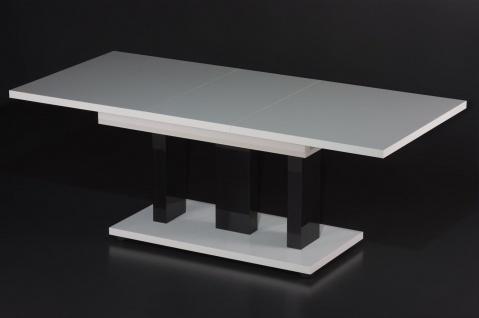 Couchtisch Auszug Tisch Wohnzimmer erweiterbar zweifarbig nußbaum Eiche Wenge