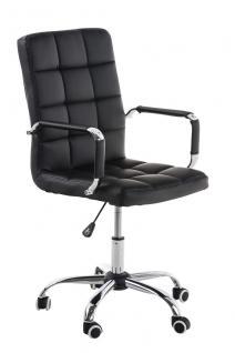 Bürostuhl schwarz Kunstleder Chefsessel hochwertig günstig modern design neu