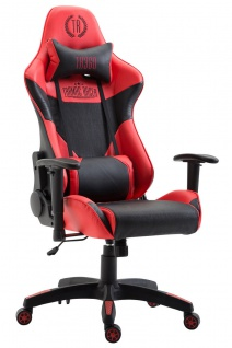 XL Racing Bürostuhl 136kg belastbar Kunstleder schwarz rot Chefsessel Zocker