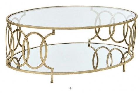 Couchtisch Tisch Beistelltisch Glastisch Metalltisch Metall/Glas Farbe Gold neu