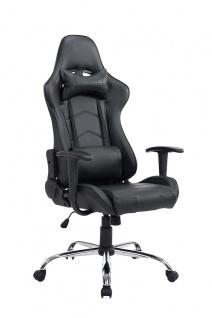XL Bürostuhl schwarz 150kg belastbar Chefsessel Kunstleder Gaming Gamer Zocker