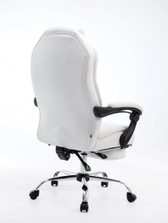 Bürostuhl 120 kg belastbar weiß Kunstleder Chefsessel Computerstuhl Drehstuhl - Vorschau 4