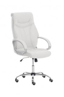 XXL Bürostuhl weiß 150 kg belastbar Chefsessel Kunstleder stabil hochwertig
