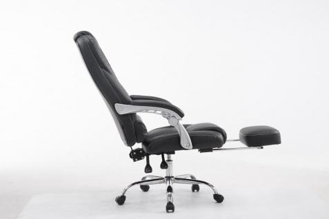XXL Bürostuhl 150kg belastbar schwarz Kunstleder Chefsessel Fußablage Drehstuhl - Vorschau 3