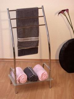 Handtuchhalter Handtuchstange Handtuch Halter Ablagebogen Bad Glas chrom