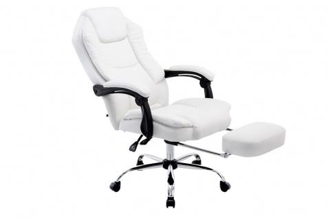 XL Bürostuhl schwarz weiß Kunstleder Chefsessel klassisch Fußablage hochwertig