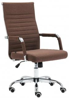 Bürostuhl 120 kg belastbar Stoff braun Chefsessel Drehstuhl Computerstuhl stabil