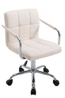 Bürostuhl Stoffbezug beige Drehstuhl Arbeithocker moderner look design belastbar