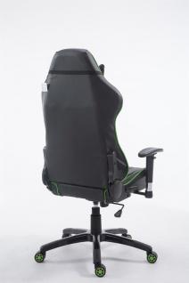 XL Bürostuhl 150 kg belastbar schwarz grün Chefsessel Zocker Gamer Gaming - Vorschau 4