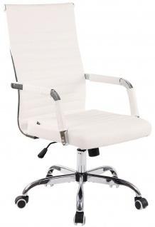 moderner Bürostuhl 120 kg belastbar Kunstleder weiß Drehstuhl Chefsessel NEU