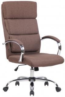 Bürostuhl braun Stoffbezug Chefsessel Drehstuhl Schreibtischstuhl Computerstuhl