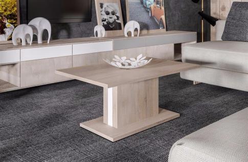 moderner Couchtisch mit Säule Sonoma Sofatisch Wohnzimmertisch günstig design