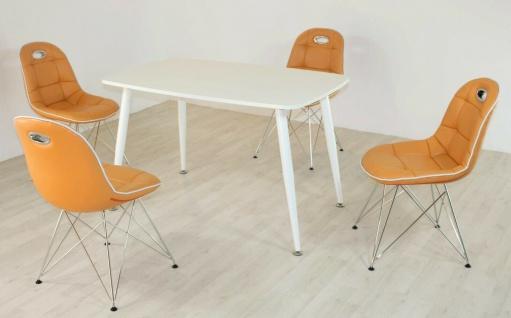 Tischgruppe mandarin Essgruppe Esszimmergruppe Schalenstuhl modern design D6