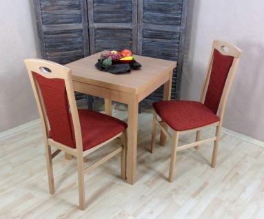 Tischgruppe massiv Buche natur terracotta Stuhlset Stühle Set Esstisch Tisch