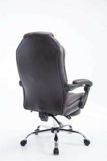 Bürostuhl 120 kg belastbar braun Kunstleder Chefsessel Computerstuhl Drehstuhl - Vorschau 4