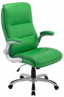 XL Chefsessel 150 kg belastbar Kunstleder grün Bürostuhl große schwere Personen