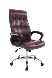 XXL Chefsessel 160 kg belastbar Kunstleder Bürostuhl bordeauxrot günstig modern