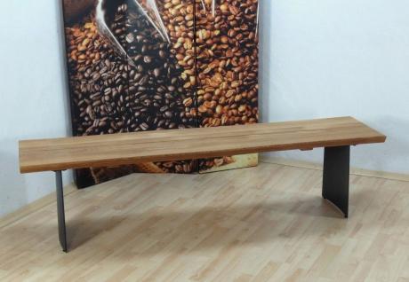 3er Sitzbank Wildeiche geölt massivholz Hockerbank hochwertig modern design neu