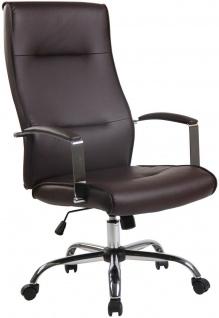 Chefsessel 136 kg belastbar Kunstleder braun Bürostuhl Drehstuhl robust stabil