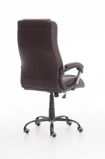 XXL Bürostuhl 150 kg belastbar braun Kunstleder Chefsessel schwere Personen - Vorschau 4