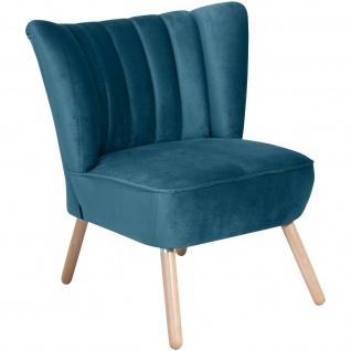 Retro Sessel Samtvelours Wohnzimmersessel Lounge Einzelsessel Vintage design