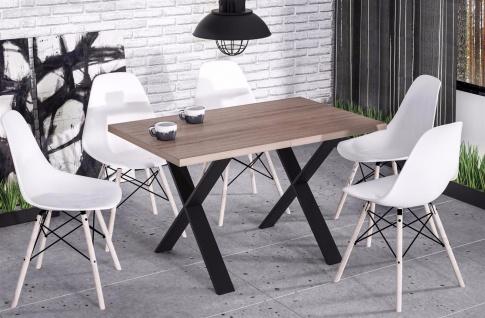 hochwertiger Esstisch Wildeiche Esszimmertisch Küche Metallgestell modern design