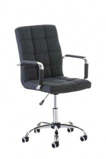 Bürostuhl grau Stoff edler Chefsessel hochwertig exklusiv günstig design modern