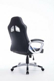 XL Bürostuhl 180kg belastbar schwarz blau Kunstleder Chefsessel schwere Personen - Vorschau 4