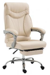 Chefsessel bis 136 kg belastbar creme Bürostuhl Kunstleder modern design robust