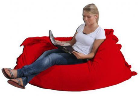 Riesensitzsack Sitzsack Sitzkissen XXL Kissen Bodenkissen Sessel Sofa rot