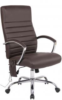 XL Chefsessel 136kg belastbar mit Massagefunktion Kunstleder Bürostuhl Drehstuhl