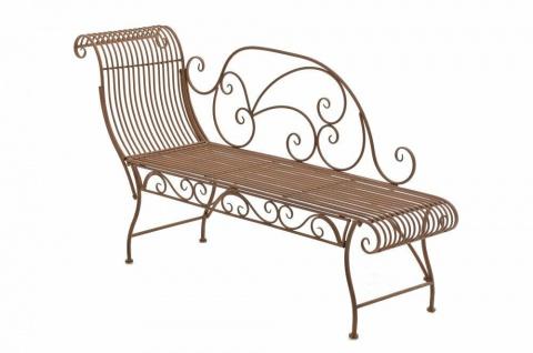 Gartenbank antik braun Eisen Sitzbank Gartenliege romantisch Vintage Nostalgie