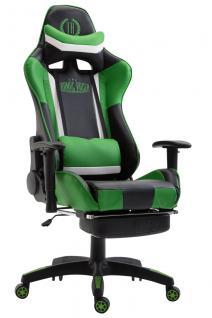 XL Chefsessel schwarz grün Kunstleder Bürostuhl modern design hochwertig stabil