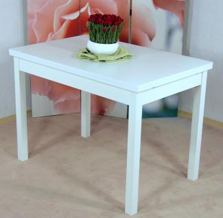 Auszugtisch weiß Esstisch Esszimmertisch Tisch Küchentisch Esszimmer ausziehbar