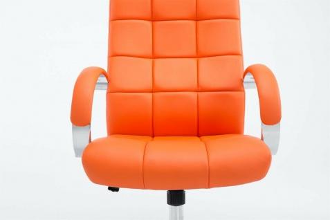 Drehstuhl bis 120 kg belastbar Kunstleder orange Computerstuhl Schreibtischstuhl - Vorschau 2