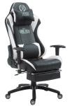 XL Bürostuhl 150 kg belastbar weiß Chefsessel Fußstütze Gaming Zockersessel