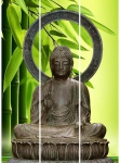 Paravant Buddha Paravent Raumtrenner Raumteiler Trennwand massivholz klappbar