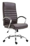 XL Bürostuhl bis 136 kg belastbar Kunstleder braun Chefsessel hochwertig design