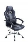 Bürostuhl 150 kg belastbar schwarz grau Kunstleder Chefsessel schwere Personen
