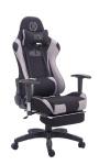 Bürostuhl 150 belastbar schwarz Stoffbezug Chefsessel Fußstütze zocker Gamer