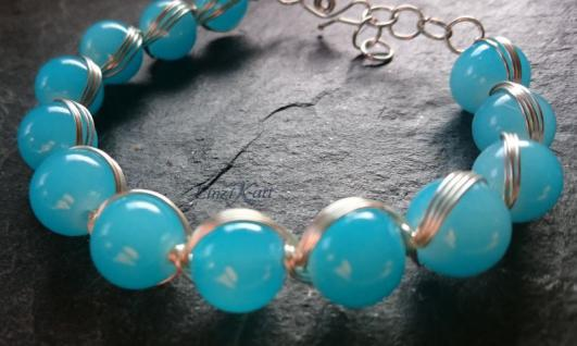 EinziK-Art Armband waves blau 925 versilbert - Vorschau 2
