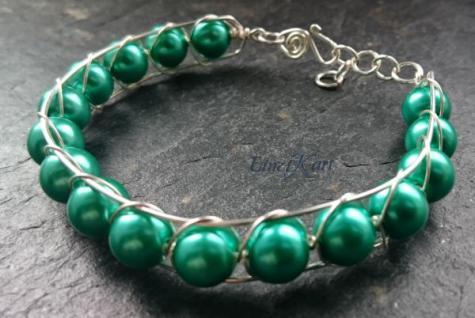 EinziK-Art Armband waves grün 925 versilbert - Vorschau 2