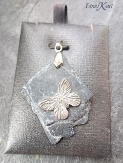 EinziK-Art Kunstschiefer-Anhänger Schmetterling