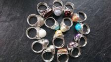 EinziK-Art Draht-Ring mit Wunschperle 925